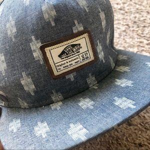 Vans short bill baseball cap, denim color